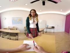 VR Bangers-[360°VR] Foreign exchange student FUCKED HARD on Teacher's Desk