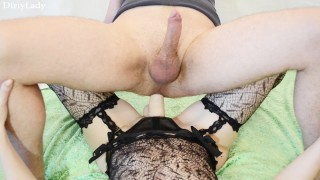 Hot Wife Fucking Guy with Strapon (PEGGING FEMDOM)  strap on ass fuck femdom strapon guy pegging his ass femdom strapon pegging strapon femdom domination kink stockings pegging strapon wife strapon adult toys sex toy girls fuck guys