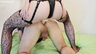 Hot Wife Fucking Guy with Strapon (PEGGING FEMDOM)  strap on ass fuck femdom strapon guy pegging his ass girls fuck guys femdom strapon pegging strapon femdom domination kink stockings adult toys sex toy pegging strapon wife strapon