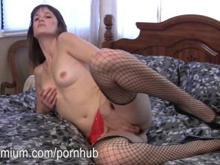 Miranda plays with her hairy little vagina