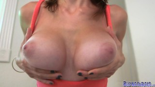 Preview 3 of Big Naturals - GF shows off her great tits
