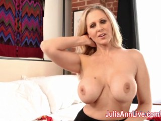 Blonde Milf Julia Ann Showing Off Her Stockings!