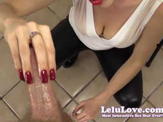 CFNM handjob with my red nails until YOU cum POV style :)