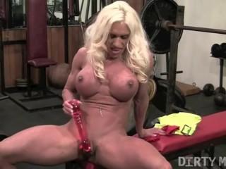 Ashlee Chambers Gym Masturbation