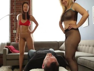 Double Pantyhose Smother