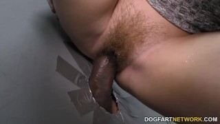 Edyn Blair suck and fucks two BBC at Gloryhole redhead big cock hardcore big black cock kink big tits gloryhole glory hole pornstar hairy creampie interracial dogfartnetwork reality fetish
