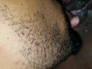 Eating young wet pussy