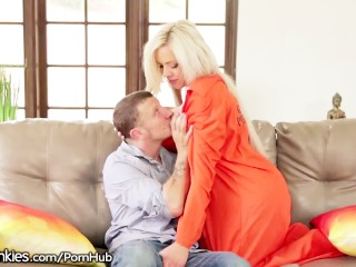 Horny MILF escapes Prison for Dick