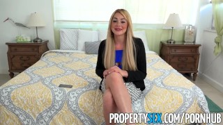 PropertySex - Vacation rental gone wrong turns into sex with busty agent  point-of-view blowjob blonde cumshot big-boobs missionary dsl busty hardcore cowgirl hottie big-dick doggystyle facial real-estate-agent propertysex