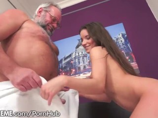21SeXtreme Teen Creampied by Grandpa