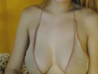 Super Busty Shemale on Webcam Show