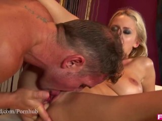 Perfect Blonde has earth shattering Orgasms