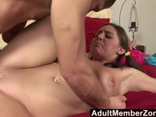 AdultMemberZone - This Cheerleader Knows How to Handle a Big Cock