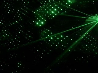 Babygirl Dancing to Laser Light Show