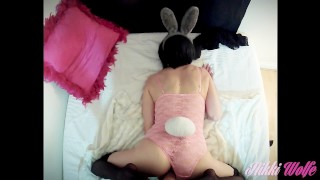 point of view pov2016 nikki wolfe bunny costume black stockings long nails cum twice huge cumshot female friendly stunning cum play sexy moan perfect wife sexy lingerie fuck weird dick long sexy legs