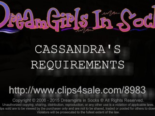 Cassandra's Requirements - www.clips4sale.com/8983/15719600