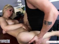Big tits blonde Sarah Vandella gets a...