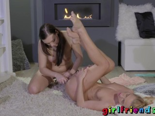 Girlfriends Hot babes playing with toys