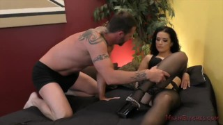 Katrina Jade Femdom  kink foot worship ass licking femdom busty