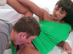 MOM Feisty brunette mom devours young man