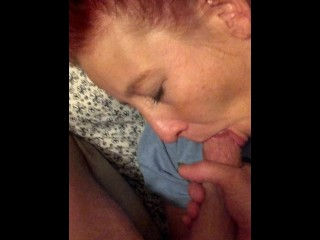 Blow job and cum in her mouth