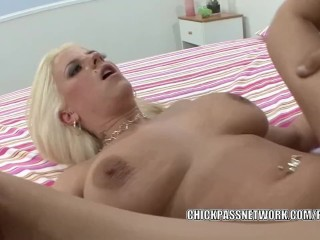 Busty coed Haley Cummings takes some dick in her tight twat