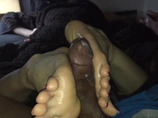 Japanese GF B-day Footjob