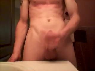 dribble counshot in bathroom