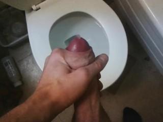 travelling: dribble cum in hostel bathroom