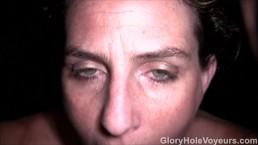 Redhead Sucks POV Glory Hole Cock