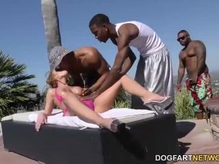Britney Amber gets DP'd by Big black cocks