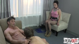 Best Break Up Therapy EVER (STRAP-ON, GROUP SEX, HYPNO)  big ass femdom strapon ex girlfriend pegging strapon hypno small tits fishnets lux orchid kink brunette 3some group sex natural tits bubble butt ashley fires pervout lance hart anya olsen