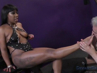 Cher Adele Ebony Femdom Foot Worship