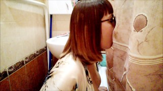 Home gloryhole:brother messed up your girl with stepsister in the bathroom