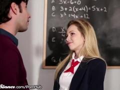 Schoolgirl plays Game with Dirty Teacher