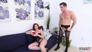 Future Son-in-Law Test with Sara Jay (FEMDOM, PEGGING, CHASTITY, CREAMPIE)  strap on big ass big tits sara jay pegging pervout cross dressing strapon femdom fishnets hardcore kink butt big boobs cum eating fake tits lance hart huge tits
