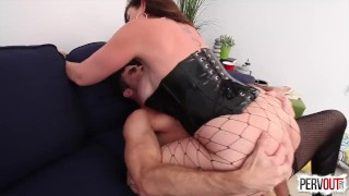 Future Son-in-Law Test with Sara Jay (FEMDOM, PEGGING, CHASTITY, CREAMPIE)  strap on big ass huge tits big tits sara jay pegging pervout strapon femdom hardcore kink fake tits big boobs cum eating fishnets butt cross dressing lance hart