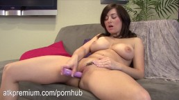 Taylor Vixen rubs her pussy and plays with her huge tits
