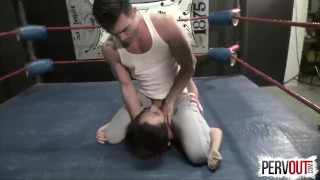 NO RULES Wrestling with Roxanne Rae + Lance Hart (Strapon, Fucking, Switch) strap-on pegging roxanne-rae domination ball-squeeze kink mixed-wrestling-sex strapon switch lance-hart brunette wrestling humiliation sweetfemdom