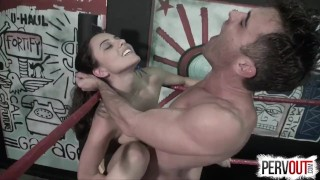 NO RULES Wrestling with Roxanne Rae + Lance Hart (Strapon, Fucking, Switch)  strap on ball squeeze mixed wrestling sex roxanne rae pegging strapon humiliation wrestling domination kink brunette sweetfemdom switch lance hart