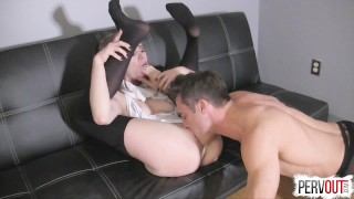 Anya Olsen Gets Hers with Lance Hart (CreamPie Eating, Switch Dom)  pussy eating orgasm kinky sex choking creampie small tits fishnets pantyhose leotard sweetfemdom sensual femdom pussy licking orgasm switch creampie eating cross dressing lance hart post orgasm torture anya olsen