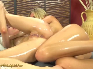 lesbian slippery nuru massage orgasm