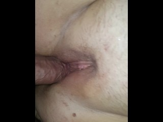 Bbw plays with her pussy then get some cock