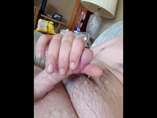 Chubby Guy Blows a Load!