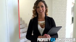 PropertySex - Beautiful agent fucks home owner for agree to sell signature