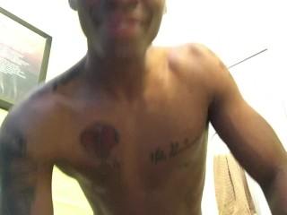 Black cock teaser- Riding Stick- 1st Video