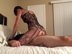 : Hot young MILF costume play with Creampie