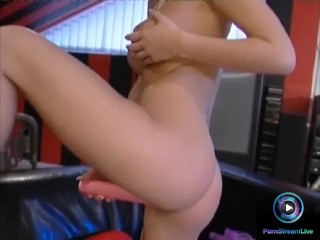 Hottie Carmen favorite past time is fucking her pink clit with her sex toy