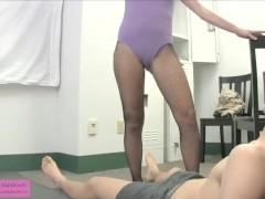 Alice Traps Johnny in the Locker Room FEMDOM HANDJOB