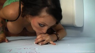 Pornstar Jenna Presley sucks HUGE cock in bathroom gloryhole  big tits big cock gloryhole pornstar skinny hardcore brunette facial big boobs hd lethal hardcore pornstars lethalhardcore xxx